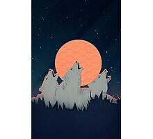 Howling Moon Photographic Print