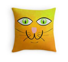 Happy Cat - pillow & tote design Throw Pillow