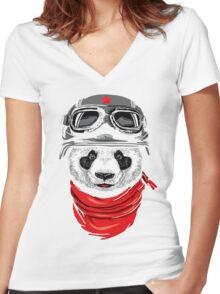 Happy Adventurer Women's Fitted V-Neck T-Shirt
