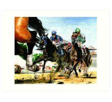 Saratoga Springs NY Racing course Art Print