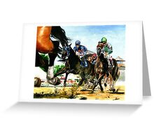 Saratoga Springs NY Racing course Greeting Card