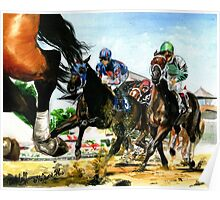 Saratoga Springs NY Racing course Poster