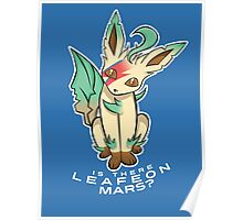 PokéPun - 'Is There Leafeon Mars?' Poster