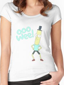 Mr pooptbutthole- Rick and Morty Women's Fitted Scoop T-Shirt