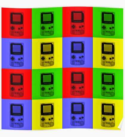 Gameboy Colour-Large Poster
