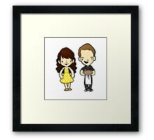 So a kiss is out of the question? Framed Print