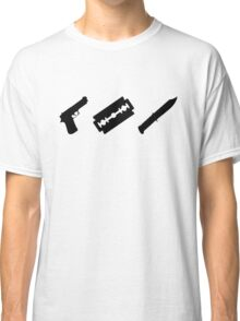 Guns, Razors, Knives (Black) Classic T-Shirt
