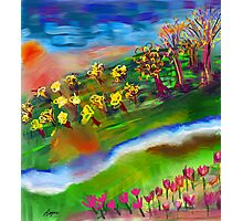 Whimsical Sunset by Roger Pickar, Goofy America Photographic Print