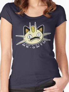 PokéPun - 'Don't Stop Me-owth' Women's Fitted Scoop T-Shirt