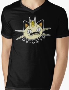 PokéPun - 'Don't Stop Me-owth' Mens V-Neck T-Shirt