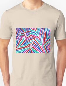 MULTICOLORED ZEBRA STRIPES Unisex T-Shirt