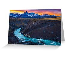 Dark River Canyon Greeting Card