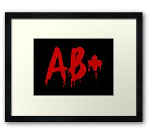 Blood Group AB+ Positive #Horror Hospital Framed Print