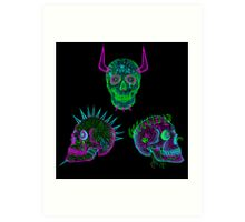 the skull of hate trilogy Art Print