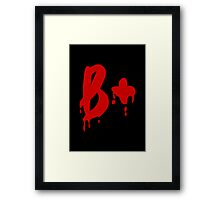 Blood Group B+ Positive #Horror Hospital Framed Print