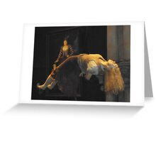 Levitating lady in Malfoy manor Greeting Card
