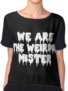 We Are the Weirdos White Design Chiffon Top