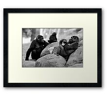 Mother and Father - and Baby Make Three Framed Print