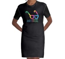 See the world through rainbow coloured glasses Graphic T-Shirt Dress