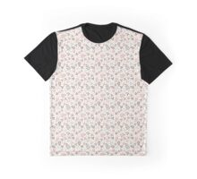 Assorted Leaf Silhouettes Pastel Colors Pattern Graphic T-Shirt