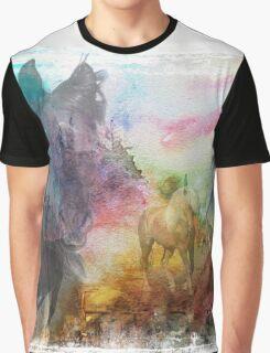 Morgan Horse Montage Graphic T-Shirt