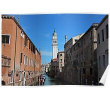 Wonky Towers in Venice Poster