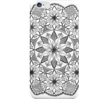 Flower spiral mandala design iPhone Case/Skin