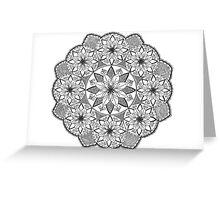 Flower spiral mandala design Greeting Card
