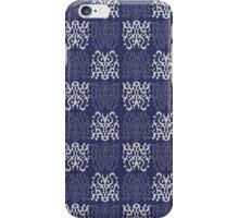 Pattern Navy Blue iPhone Case/Skin