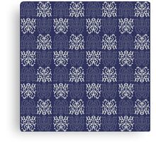 Pattern Navy Blue Canvas Print