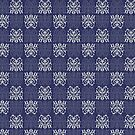 Pattern Navy Blue by elangkarosingo