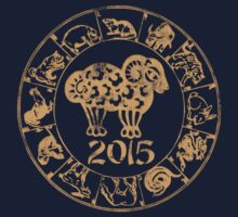 Chinese Year of The Sheep Goat 2015 One Piece - Short Sleeve