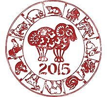 Chinese Year of The Sheep Goat 2015 Photographic Print