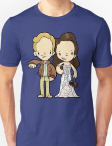 Ha, didn't even stay for the wedding. Just took his million spacebucks and ran. T-Shirt