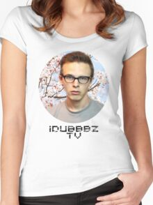 IdubbbzTV japanese blossom tree Women's Fitted Scoop T-Shirt
