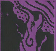 Star tree on purple by Stacie Arellano