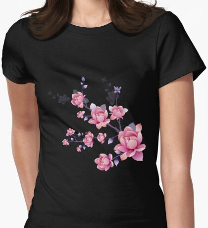 Cherry blossoms I Womens Fitted T-Shirt
