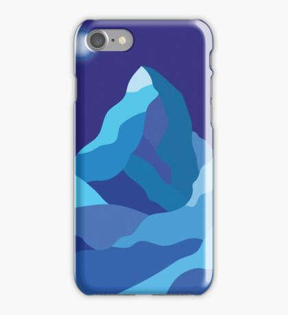 Icy winter Matterhorn mountain in blue colors  iPhone Case/Skin