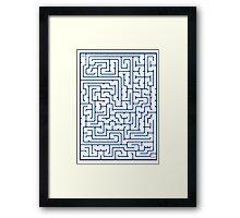Maze in Blue Framed Print