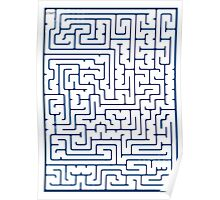 Maze in Blue Poster