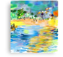 Tropical Seashore by Roger Picker, Goofy America Canvas Print