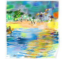 Tropical Seashore by Roger Picker, Goofy America Poster