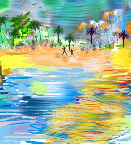 Tropical Seashore by Roger Picker, Goofy America Sticker