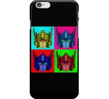 Optimus Prime - 4 Pop Art images with text iPhone Case/Skin
