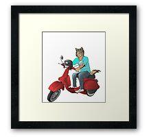 wolf rider Framed Print