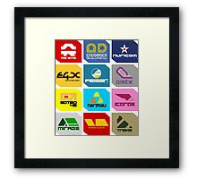 Wipeout Teams! Framed Print