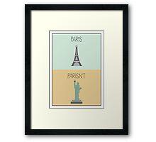 Parisn't - Statue Framed Print