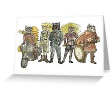 Steampunk Greeting Card