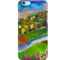 Whimsical Sunset by Roger Pickar, Goofy America iPhone Case/Skin