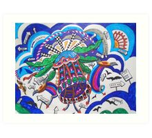 HELI-HOUSE....HELICOPTER Art Print